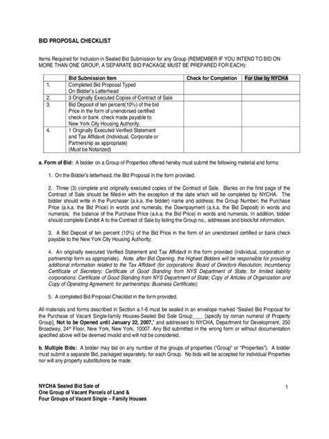 Offer Letter Checklist Bid Template 3 Free Templates In Pdf Word Excel