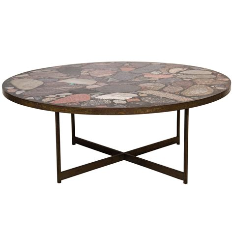 verde italia granite and bronze end table for sale at 1stdibs italian bronze and terrazzo coffee table at 1stdibs