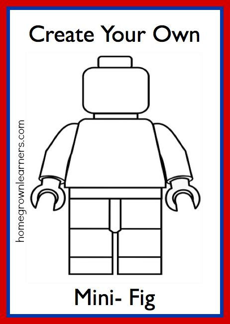 lego figure template with lego mini figures create your own mini fig