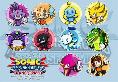 Sonic The Hedgehog Wall Stickers all stars transformed sticker concept 02 sonic the