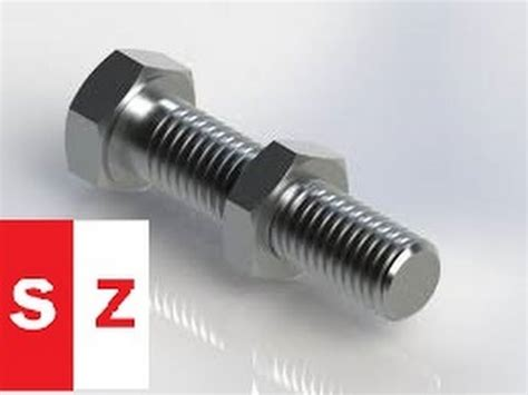 solidworks tutorial nut and bolt solidworks tutorial solidworks bolt and nut tutorial