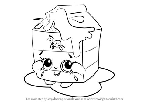 shopkins milk coloring page learn how to draw spilt milk from shopkins shopkins step