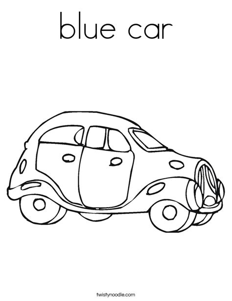 blue car coloring page twisty noodle