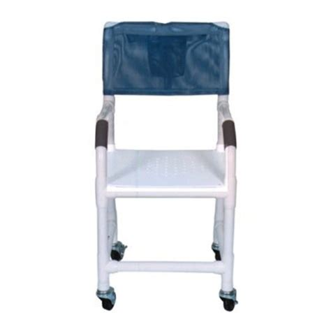 18 pvc shower chair standard flat stock seat w drain holes