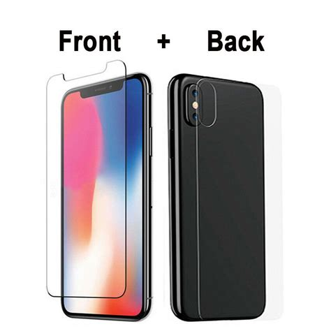 front back tempered glass screen protector for iphone x xs max xr 8 7 6 s plus 5 ebay