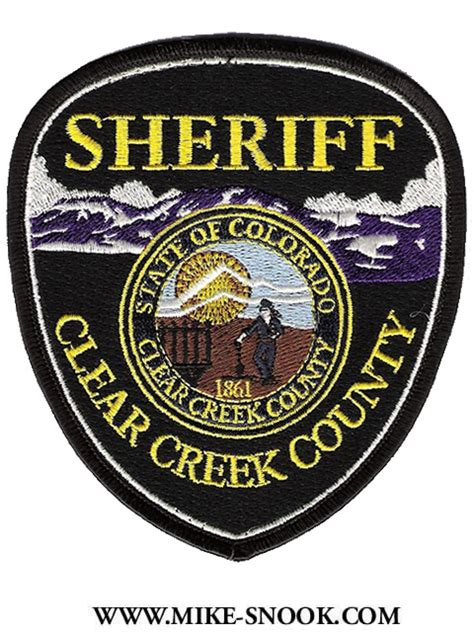 County Sheriff S Office Colorado by Mike Snook S Patch Collection Colorado Clear