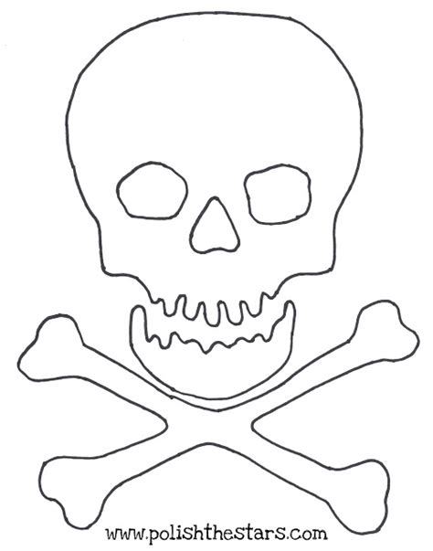 printable skull template the gallery for gt jolly roger stencil printable