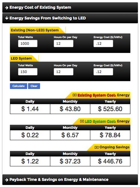 led lighting energy savings calculator volt 174 lighting launches new led lighting calculators for