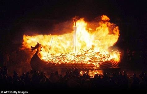 viking fire boat british museum unveils viking treasures daily mail online