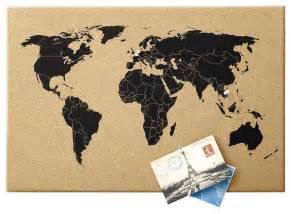 World Map On Cork Board world map corkboard contemporary bulletin boards and