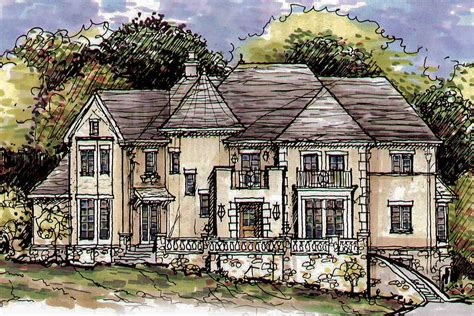 luxurious home plans luxurious european home plan 15335hn architectural