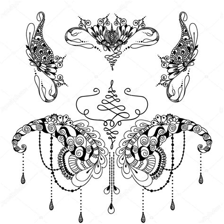 henna tattoo cena 15 henna cena mandala slon design pro karty