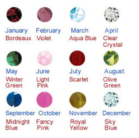 birthstones colors popular images available birthstone colors
