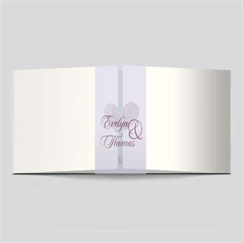 Einladungskarten Hochzeit Herz by Fingerabdruck Hochzeitseinladung Herzen