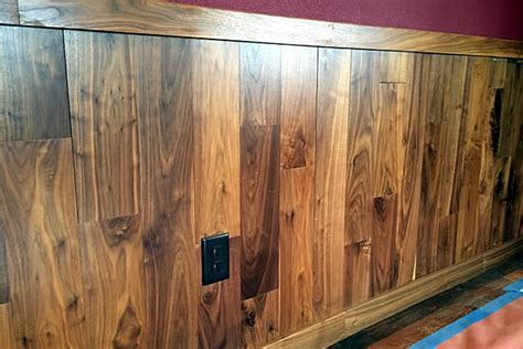 Walnut Wainscoting Panels Tongue And Groove Lumber 2x6 Decking Grain Image Lumber