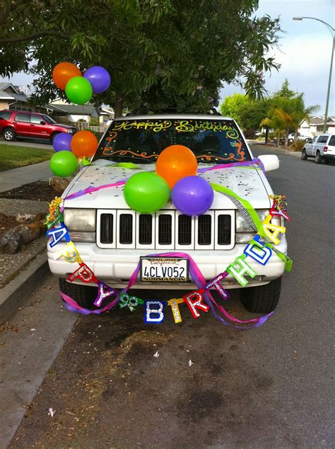 How To Decorate Your Car by Many The Today Was 22nd Birthday