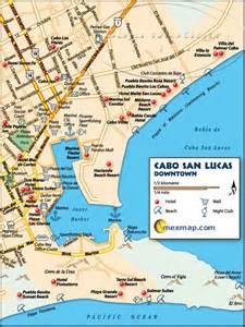 lucas map downtown cabo san lucas mexico map baja mexico maps