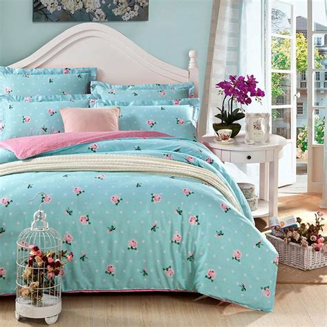 Set Pink Flowery blue floral bedding sets sale ease bedding with style