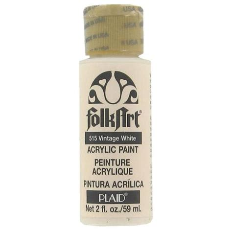 plaid folk acrylic paint australia plaid folk acrylic paint 515 vintage white 2 oz