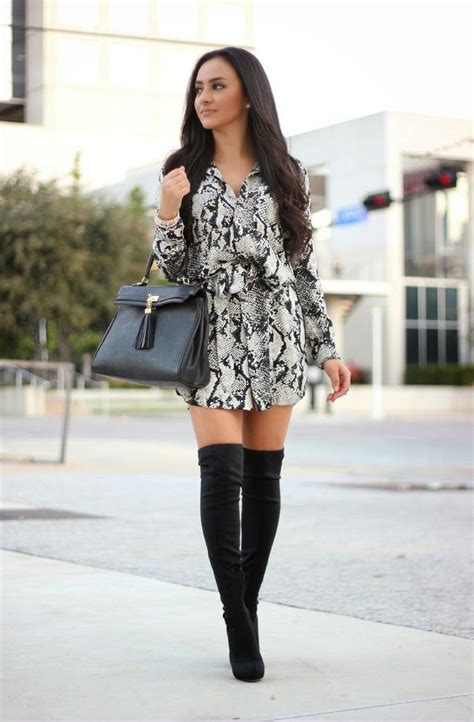 black dress knee high boots gommap