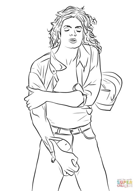 michael jackson king of pop coloring page free