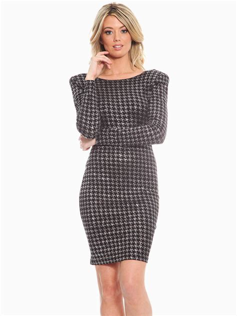 Dress Houndstooth loft collection houndstooth cocktail dress