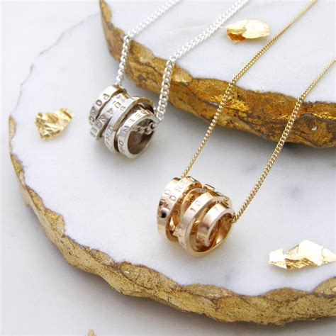 personalised scroll necklace by soremi