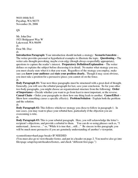 Business Letter Format Header Proper Formatting For A Letter Best Template Collection