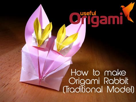 How To Make A Bunny Origami - origami easter bunny photo diagrams lesson 13