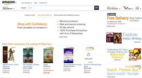 amazon online india amazon online shopping site launched with marketplace