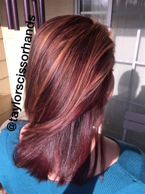 5vr hair color caramel highlights on 4rr and 4r 5vr hair cosmetology