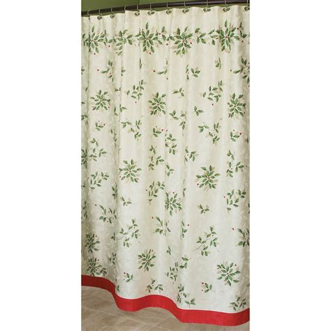 lenox shower curtain lenox holiday shower curtain shower curtains home