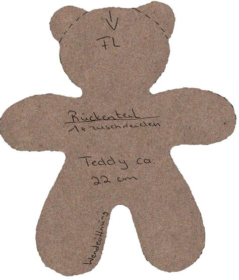 sewing pattern teddy bear simple teddy bear pattern to use for felt patchwork