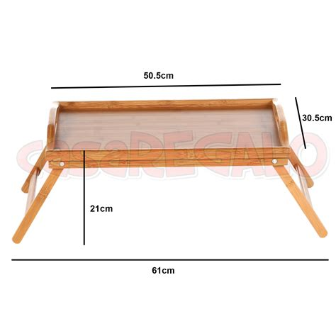 Fold Up Coffee Table Wooden Bamboo Folding Tray Bamboo Fold Up Tray Tea Coffee Table Breakfast Ebay