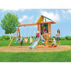 toys r us wooden swing sets big backyard springfield ii wood swing set big backyard