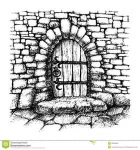 Tiny House On Foundation Plans arched door stock vector image 48998303