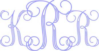 Monogram Template by Custom Monogram Initials Decal Letters Car Window
