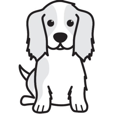 coloring pages of cavalier king charles spaniels cavalier king charles spaniel dog cartoon photo cut out