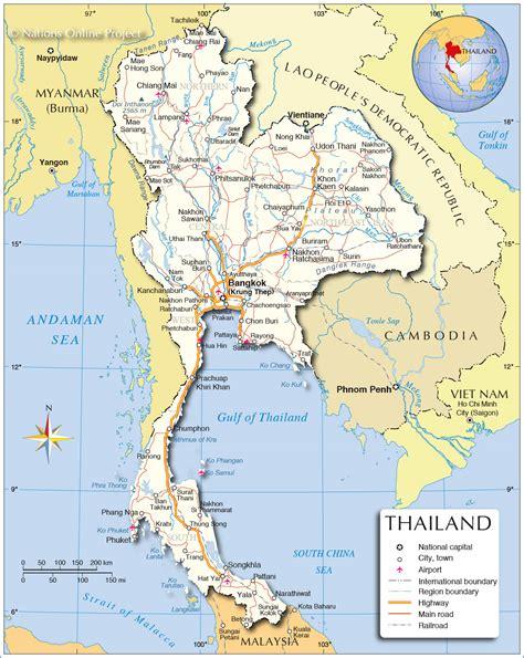map thailand thailand kapital karte