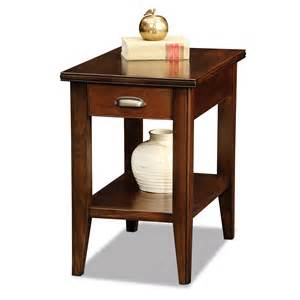 leick 10506 laurent drawer chairside end table atg stores