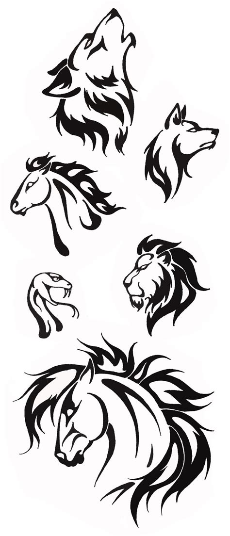 sketches of tribal tattoos 25 best ideas about tribal animal tattoos on