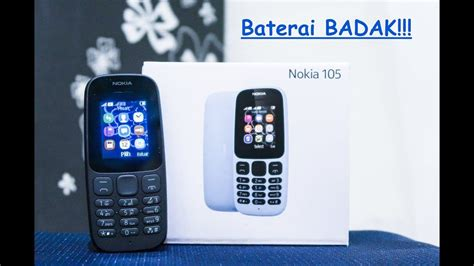 Nokia Badak nokia 105 2017 hp 100ribuan berbaterai badak