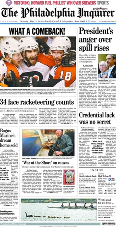 philadelphia daily news sports section flyers bruins game 7 time capsule broad street hockey