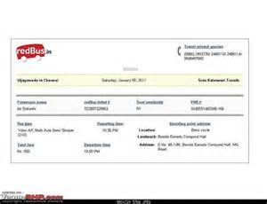 Volvo Tickets Intercity Travel Reviews Page 41 Team Bhp