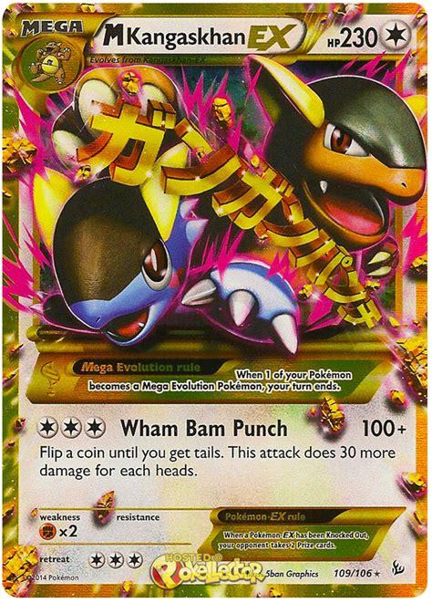ex m m kangaskhan ex xy flashfire 109 pokemon card
