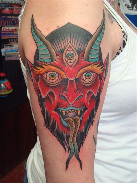 satan tattoo satan dennis hickman tattooer