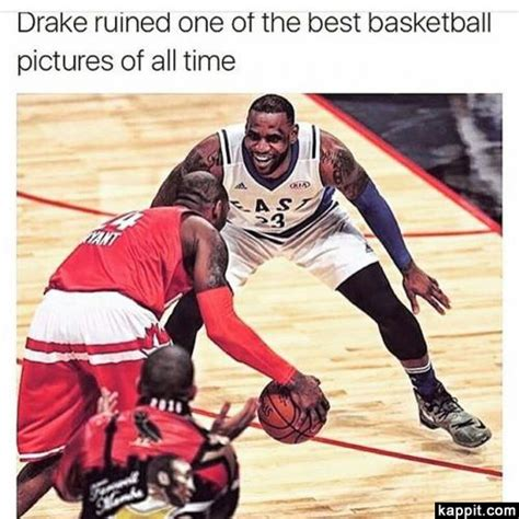 Drake Lebron Meme - drake ruined one of the best basketball pictures of all time