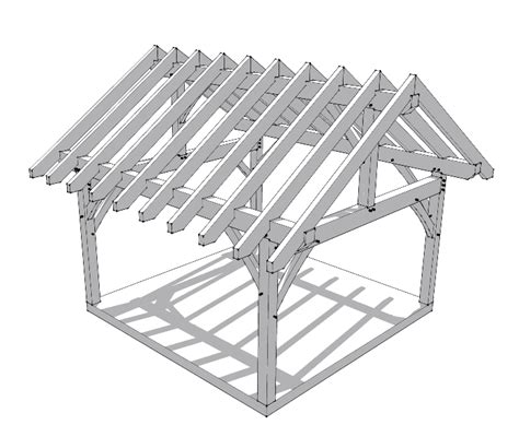a frame roof pitch 16x16 timber frame plan timber frame hq