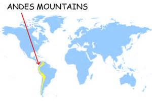 Andes Mountains On World Map andes mountains world map www imgarcade com online
