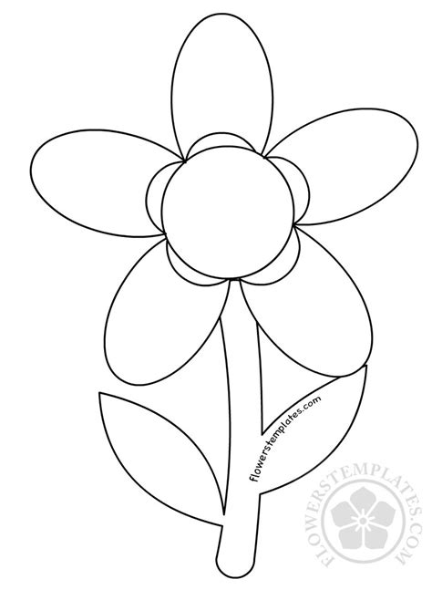 Template Of A Flower by 5 Petal Flower Drawing At Getdrawings Free For